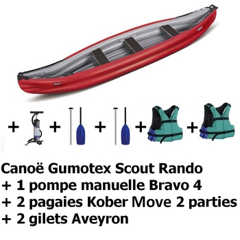 Pack Gumotex Scout rando rouge