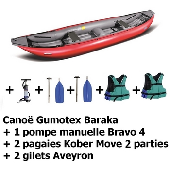 Pack Gumotex Baraka rouge